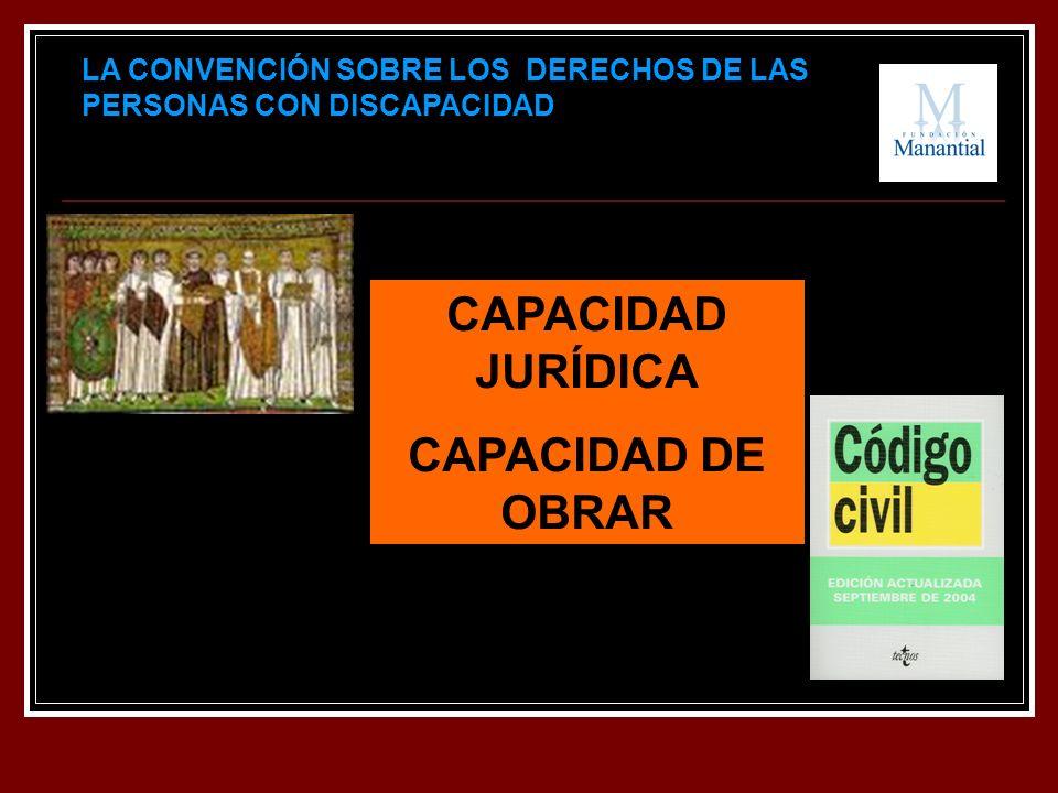 LA CONVENCIÓN SOBRE LOS DERECHOS DE LAS PERSONAS CON DISCAPACIDAD CAPACIDAD JURÍDICA CAPACIDAD DE OBRAR