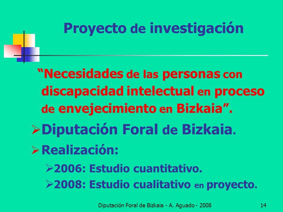 Diputación Foral de Bizkaia - A. Aguado - 200814 Proyecto de investigación Necesidades de las personas con discapacidad intelectual en proceso de enve