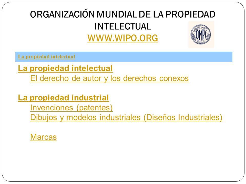 ORGANIZACIÓN MUNDIAL DE LA PROPIEDAD INTELECTUAL WWW.WIPO.ORG WWW.WIPO.ORG La propiedad intelectual El derecho de autor y los derechos conexos La prop