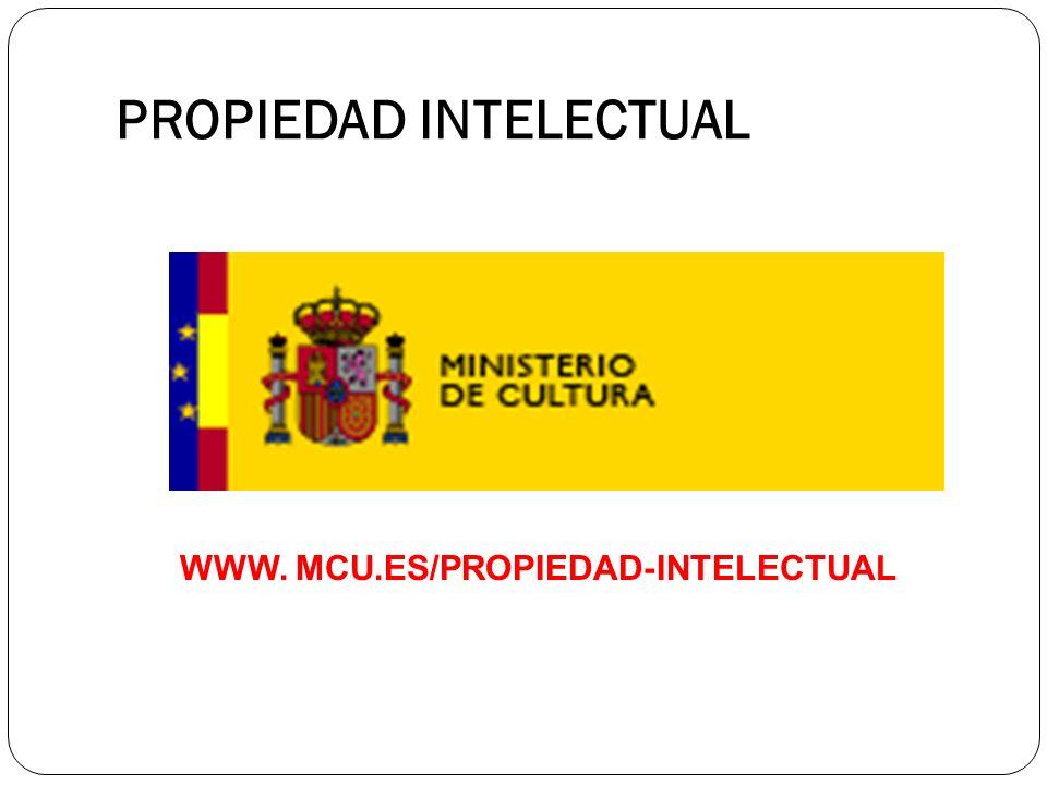 PROPIEDAD INTELECTUAL WWW. MCU.ES/PROPIEDAD-INTELECTUAL