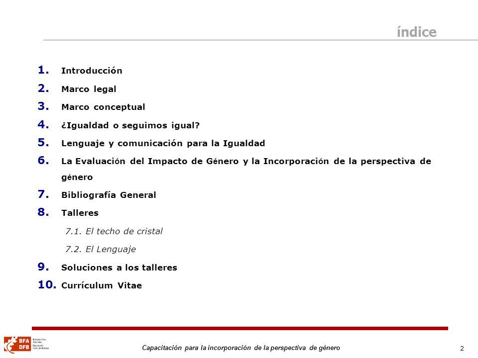 33 Capacitación para la incorporación de la perspectiva de género Fuente: EUSTAT.