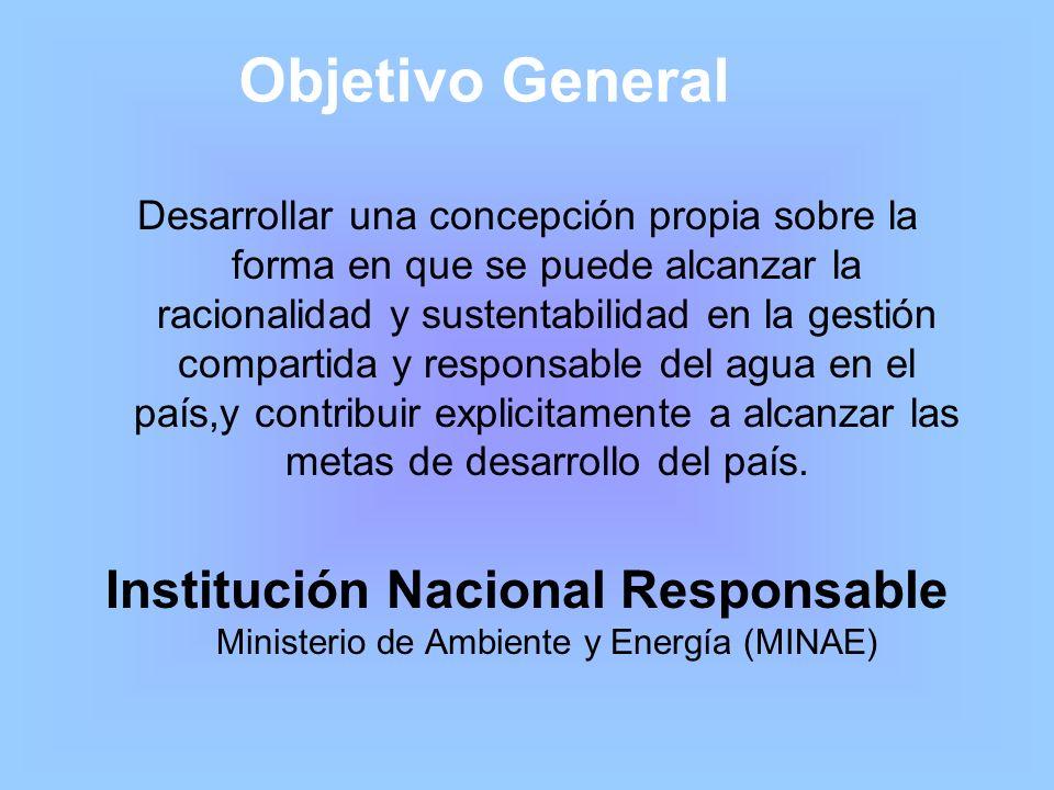 Objetivo General Desarrollar una concepción propia sobre la forma en que se puede alcanzar la racionalidad y sustentabilidad en la gestión compartida