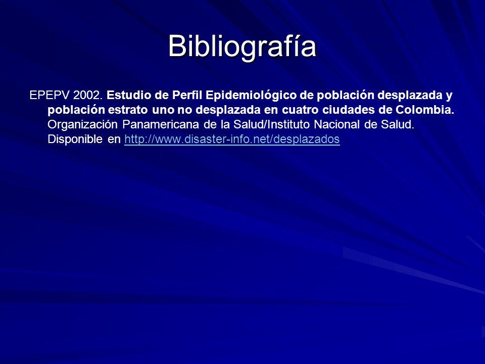 Bibliografía EPEPV 2002.