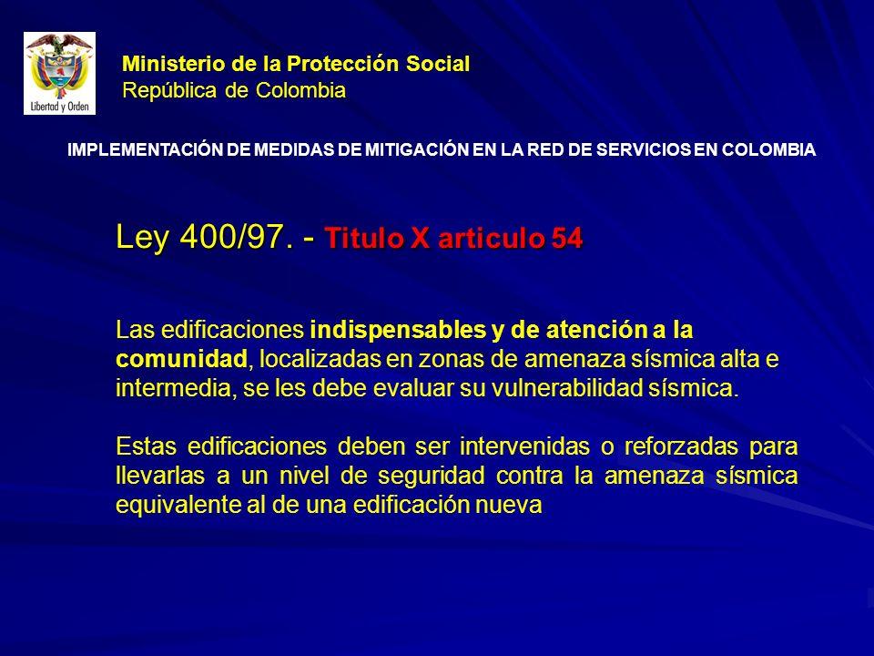 Ley 400/97.