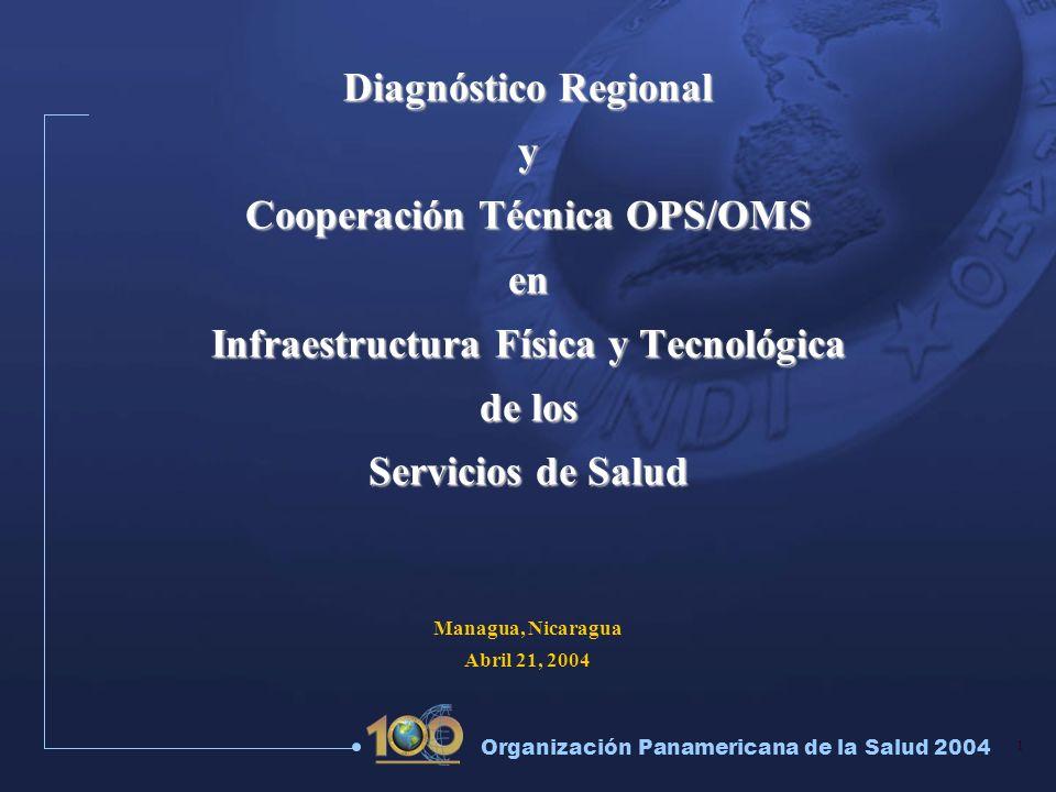 1 Organización Panamericana de la Salud 2004 Diagnóstico Regional y Cooperación Técnica OPS/OMS en Infraestructura Física y Tecnológica de los Servici
