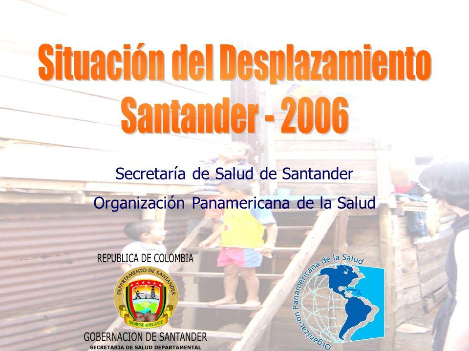 Secretaría de Salud de Santander Organización Panamericana de la Salud