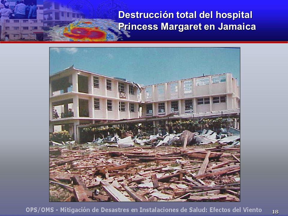 18 Destrucción total del hospital Princess Margaret en Jamaica