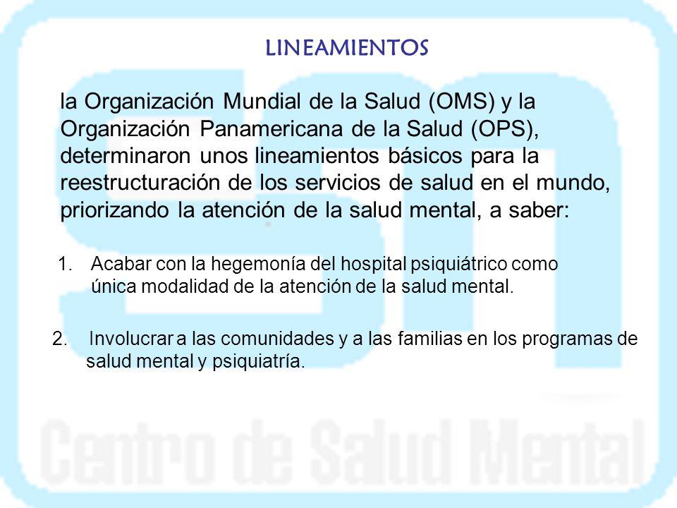 PLAN ESTRATÉGICO DEL MINISTERIO Establecimiento de seis prioridades en salud pública, entre las cuales se encuentra la salud mental.