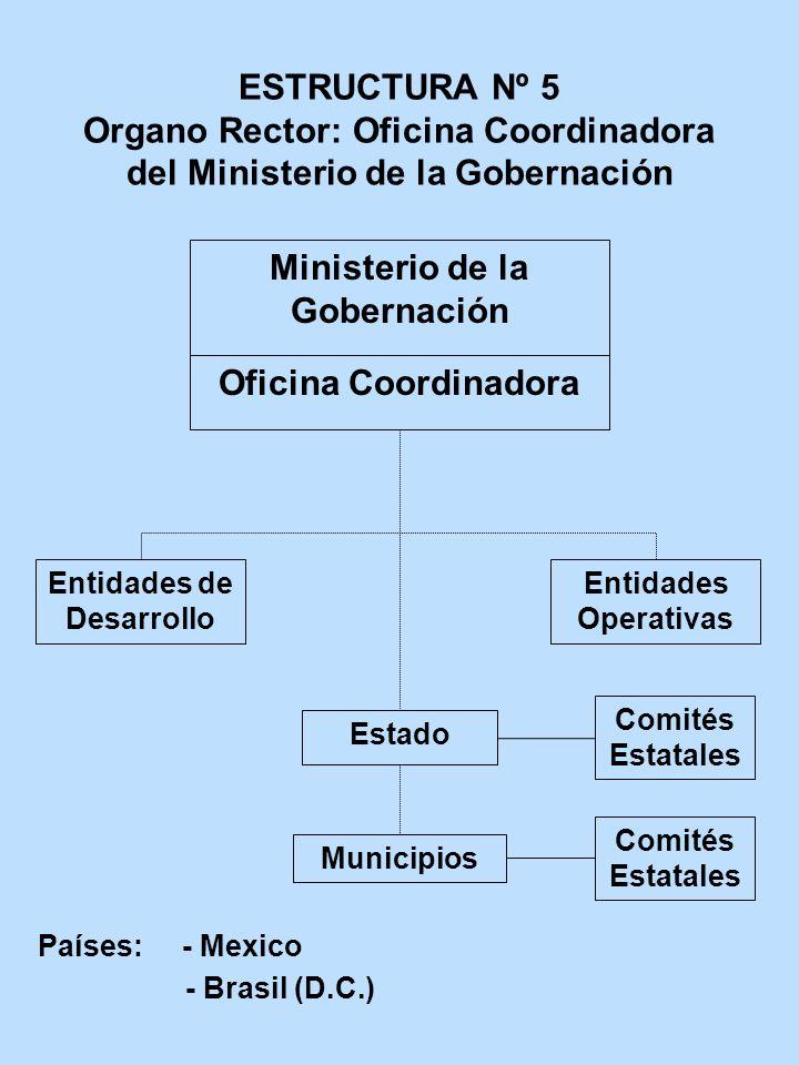 ESTRUCTURA Nº 5 Organo Rector: Oficina Coordinadora del Ministerio de la Gobernación Ministerio de la Gobernación Oficina Coordinadora Entidades de De