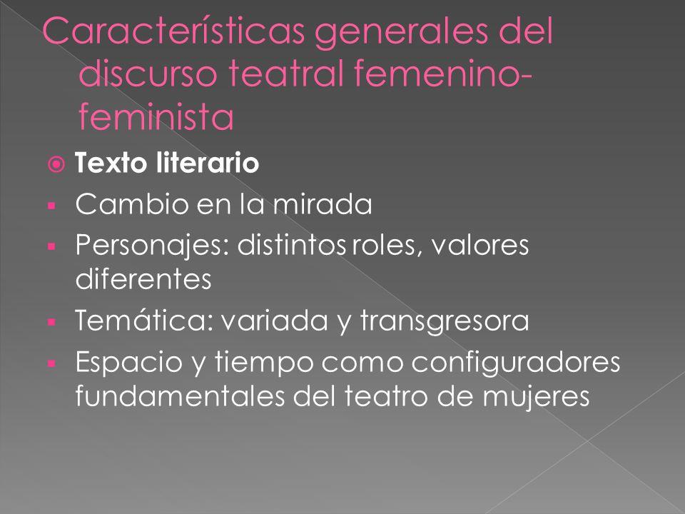 Texto literario Cambio en la mirada Personajes: distintos roles, valores diferentes Temática: variada y transgresora Espacio y tiempo como configurado