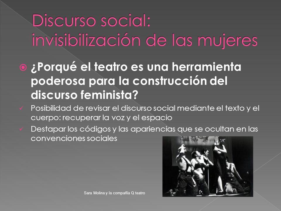 ¿Porqué el teatro es una herramienta poderosa para la construcción del discurso feminista? Posibilidad de revisar el discurso social mediante el texto
