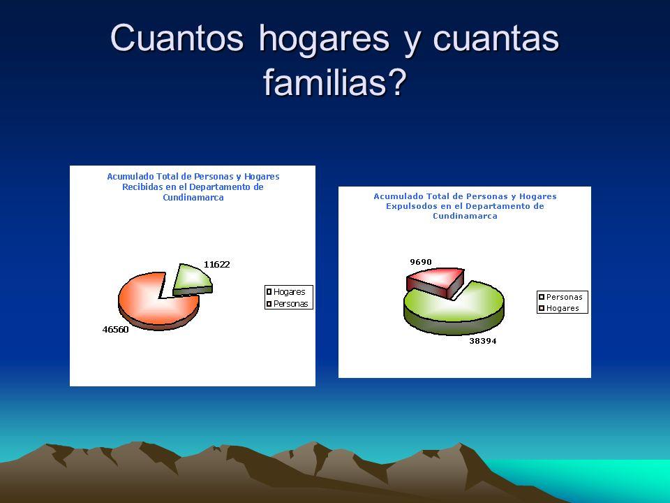 Cuantos hogares y cuantas familias?