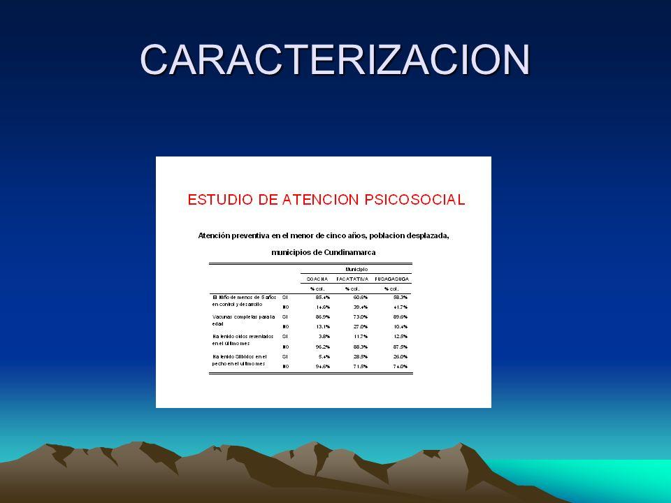 CARACTERIZACION