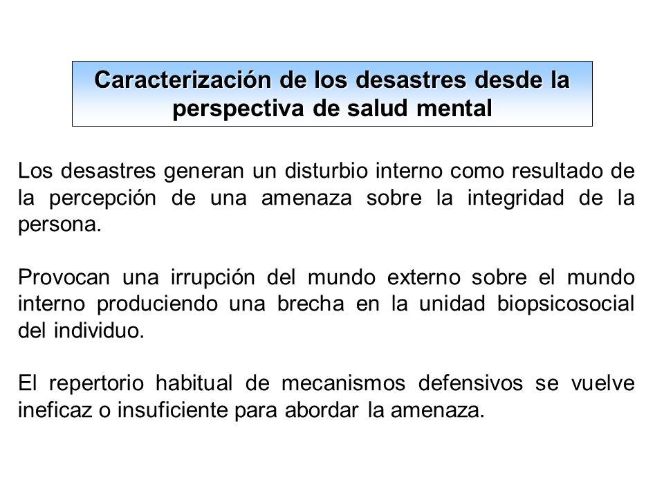 Efectos psicológicos nocivos en los equipos de salud y rescate.