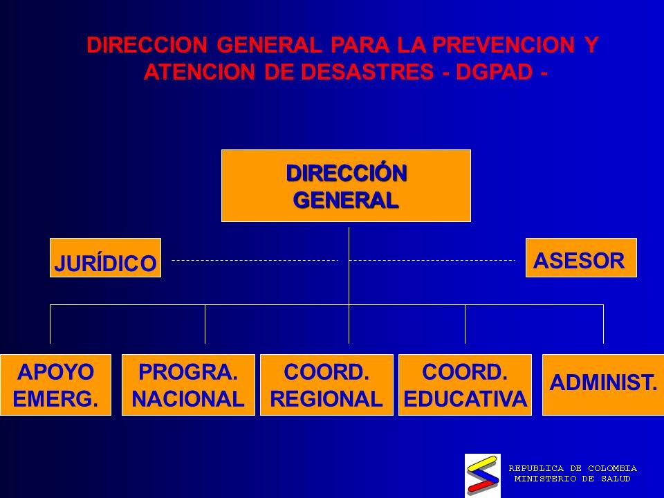 DIRECCION GENERAL PARA LA PREVENCION Y ATENCION DE DESASTRES - DGPAD - DIRECCIÓNGENERAL APOYO EMERG.