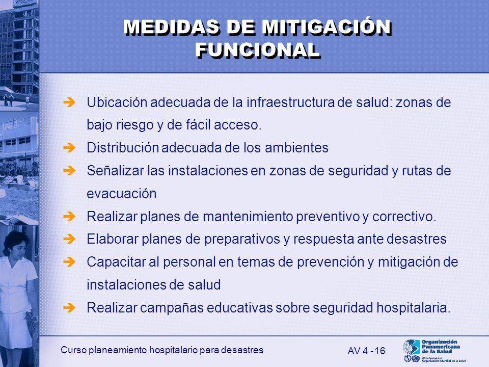 Curso planeamiento hospitalario para desastres 16 Ubicación adecuada de la infraestructura de salud: zonas de bajo riesgo y de fácil acceso. Distribuc