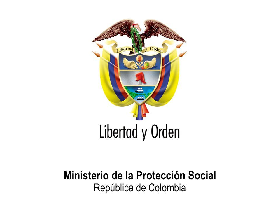 Ministerio de la Protección Social República de Colombia Situación Población en desplazamiento Población estrato 1 Síntomas depresivos SI 65.4%48.4% NO 34.6%51.6% TOTAL 100% Nivel de trauma Puntajes bajos 26.5%48.4% Puntajes medios 3.1%3.9% Puntajes altos 70.4%47.7% Total 100% SALUDMENTALSALUDMENTAL