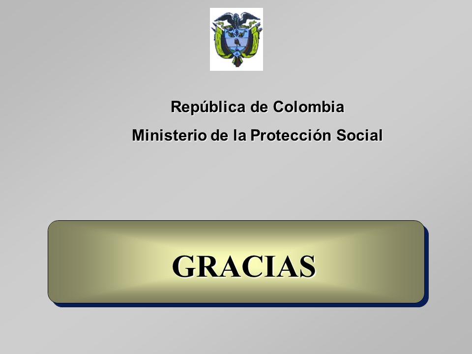 República de Colombia Ministerio de la Protección Social GRACIAS GRACIAS