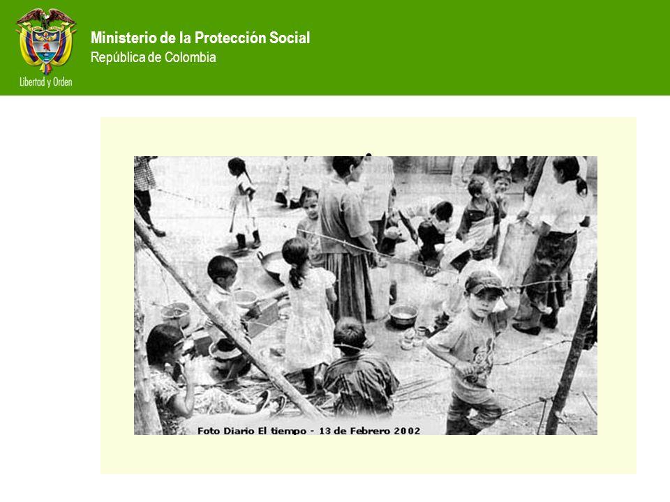 Ministerio de la Protección Social República de Colombia EL CONFLICTO, UN PROBLEMA LOCAL T R I L E M A Es el primer afectado Es el primer afectado Municipio CooperarEnfrentarNegociar Gruposarmados