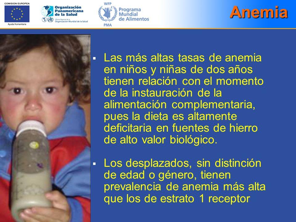 Las más altas tasas de anemia en niños y niñas de dos años tienen relación con el momento de la instauración de la alimentación complementaria, pues l