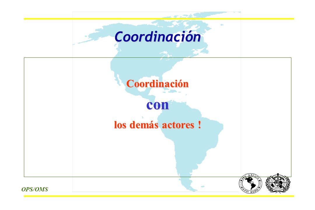 OPS/OMS Coordinación Coordinacióncon los demás actores !