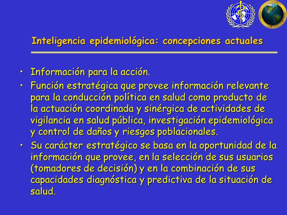Inteligencia epidemiológica: concepciones actuales Información para la acción.Información para la acción.