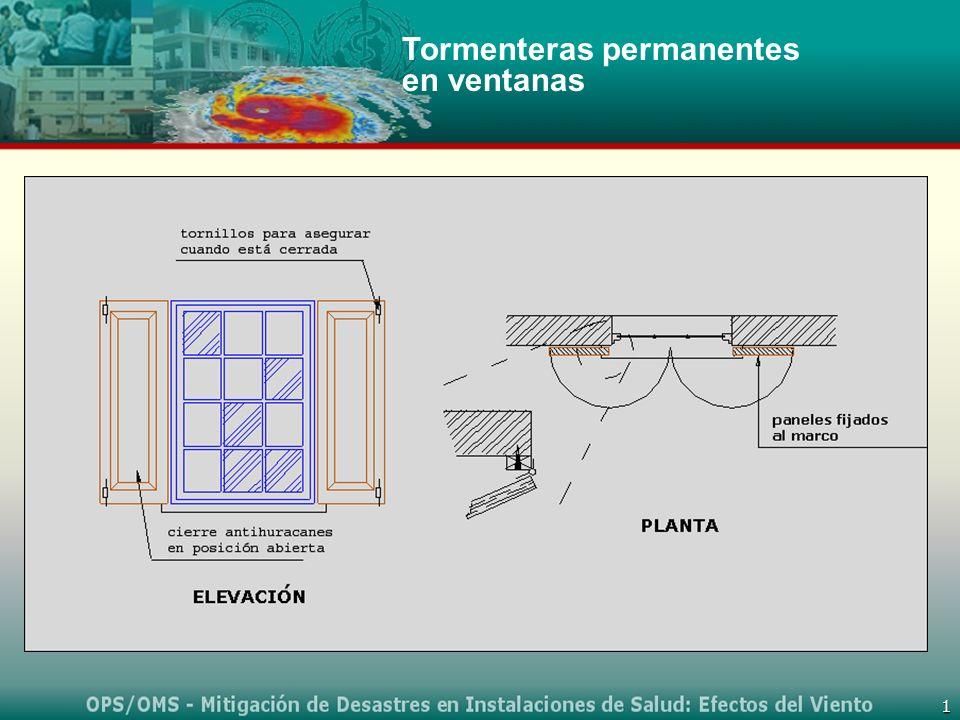 1 Tormenteras permanentes en ventanas