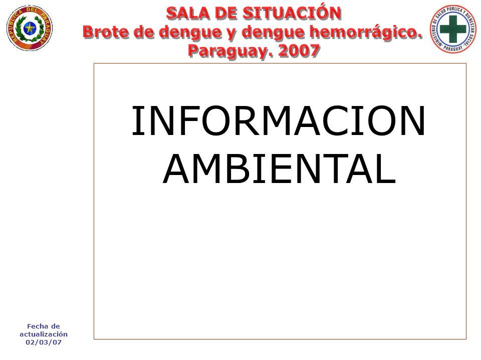 Fecha de actualización 02/03/07 Lunes 29 de Enero de 2007 - 09:33 hs. INFORMACION AMBIENTAL