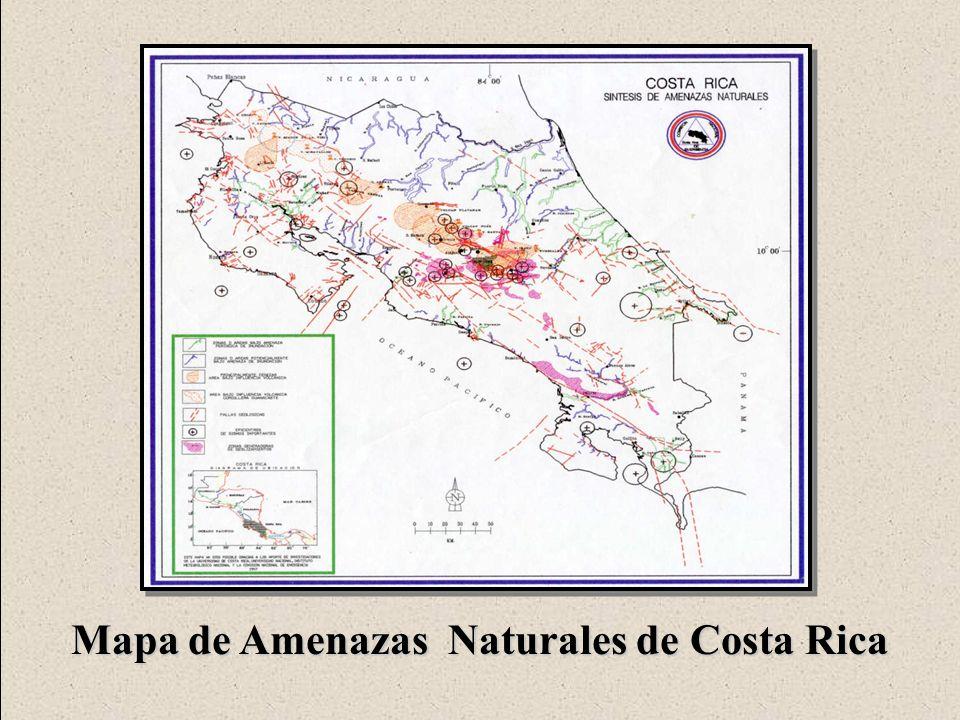 Oficina de Prevención y Atención de Desastres ESCENARIO DE AMENAZAS CANTON CENTRAL DE SAN JOSE