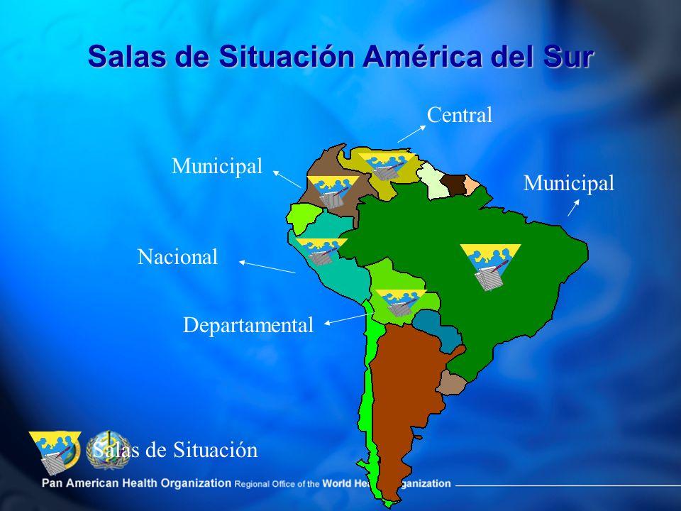 Salas de Situación América del Sur Salas de Situación Municipal Departamental Nacional Central