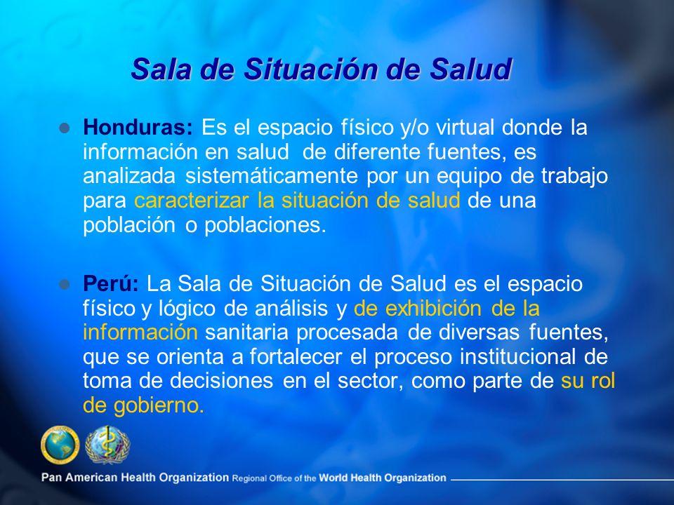 Honduras: Es el espacio físico y/o virtual donde la información en salud de diferente fuentes, es analizada sistemáticamente por un equipo de trabajo