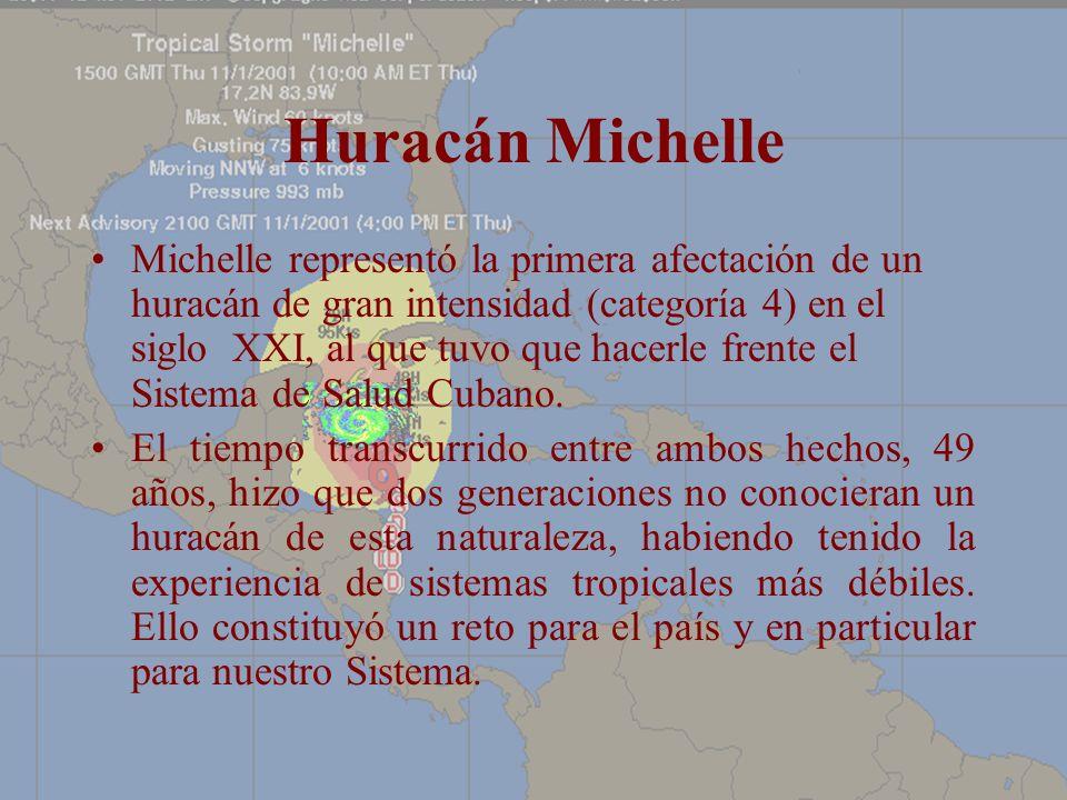 Huracán Michelle Michelle representó la primera afectación de un huracán de gran intensidad (categoría 4) en el siglo XXI, al que tuvo que hacerle fre