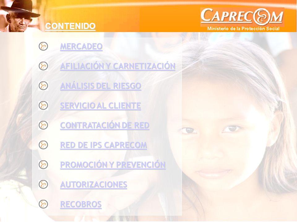 ANÁLISIS DEL RIESGO Y SALUD PÚBLICA Mortalidad Población Desplazada CAPRECOM 2007