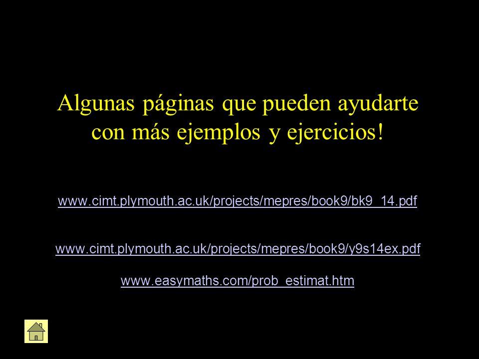 Algunas páginas que pueden ayudarte con más ejemplos y ejercicios! www.cimt.plymouth.ac.uk/projects/mepres/book9/bk9_14.pdf www.cimt.plymouth.ac.uk/pr