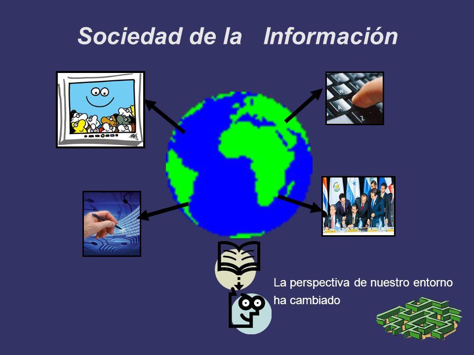 Sociedad de la Información La perspectiva de nuestro entorno ha cambiado