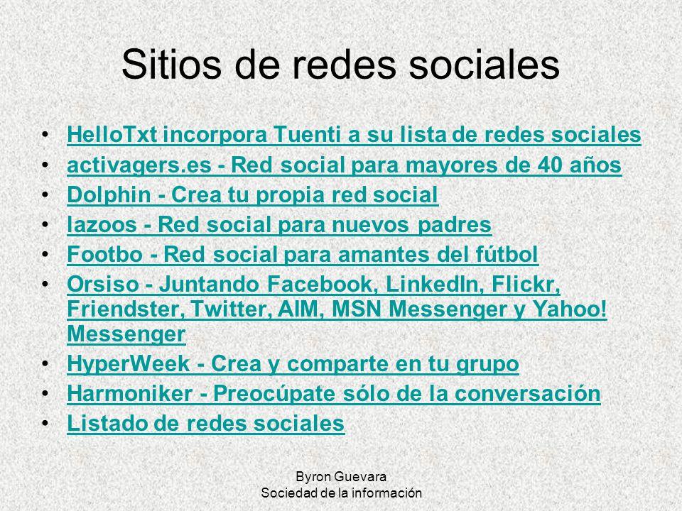 Byron Guevara Sociedad de la información Sitios de redes sociales HelloTxt incorpora Tuenti a su lista de redes sociales activagers.es - Red social pa