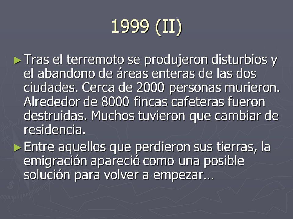 1999 (II) Tras el terremoto se produjeron disturbios y el abandono de áreas enteras de las dos ciudades.