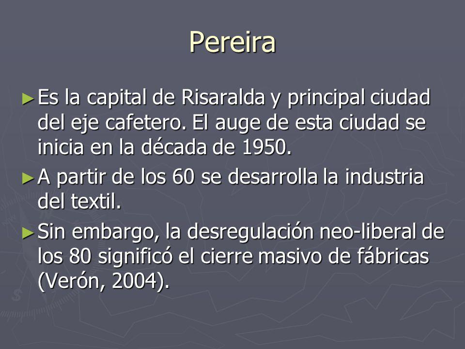 Pereira Es la capital de Risaralda y principal ciudad del eje cafetero.