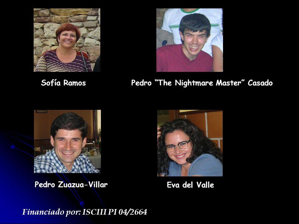 Sofía RamosPedro The Nightmare Master Casado Pedro Zuazua-Villar Eva del Valle Financiado por: ISCIII PI 04/2664
