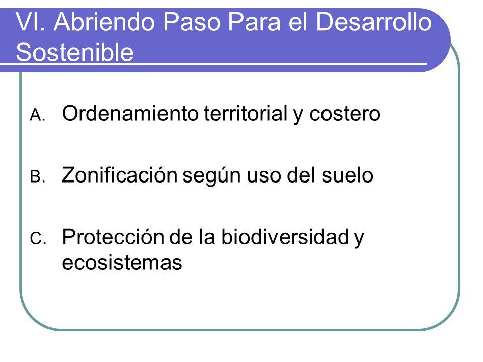 VI.Abriendo Paso Para el Desarrollo Sostenible A.