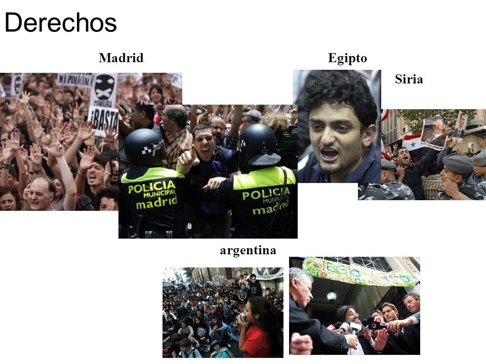 Madrid Siria argentina Egipto Derechos