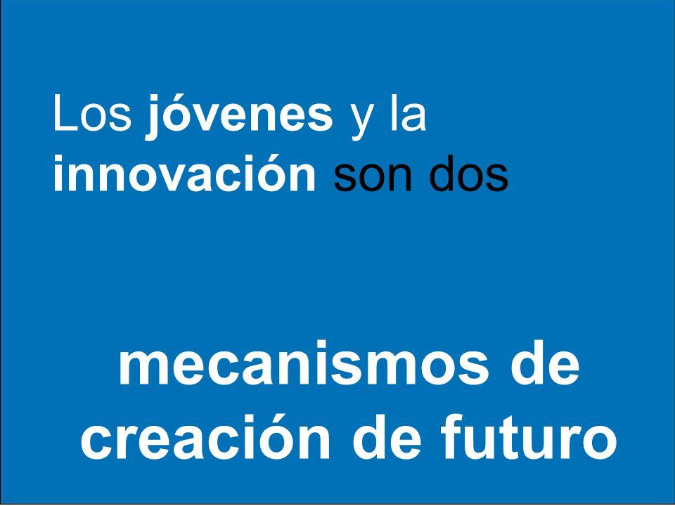 Los jóvenes y la innovación son dos mecanismos de creación de futuro