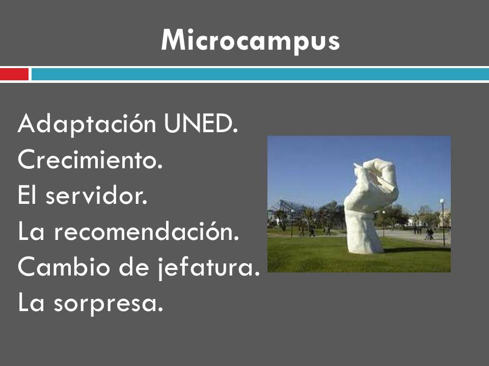 Microcampus Adaptación UNED. Crecimiento. El servidor.