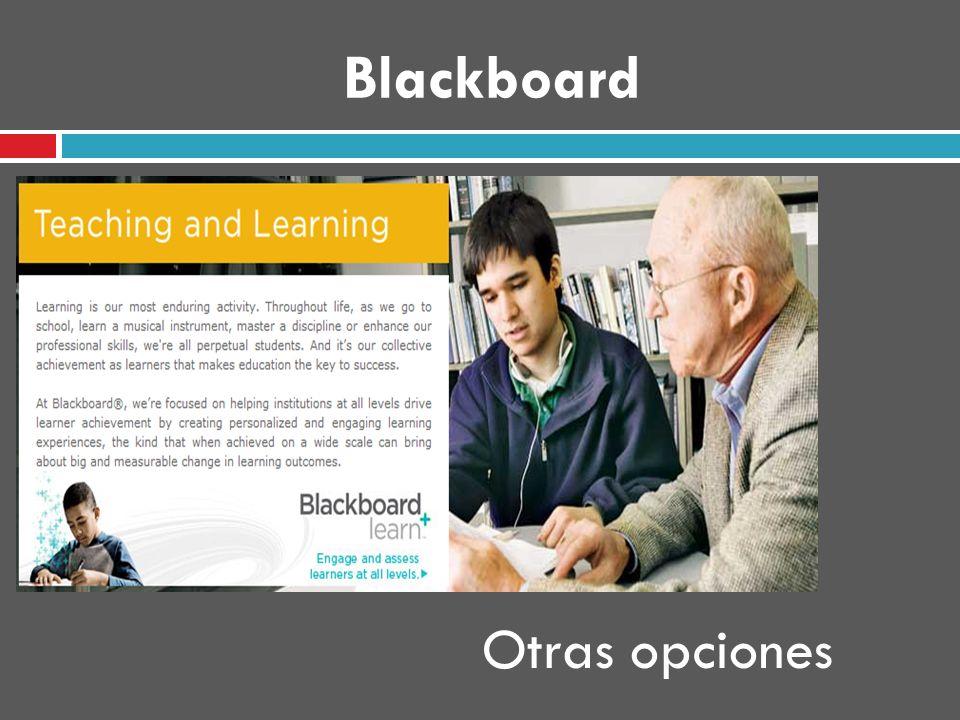Blackboard Otras opciones