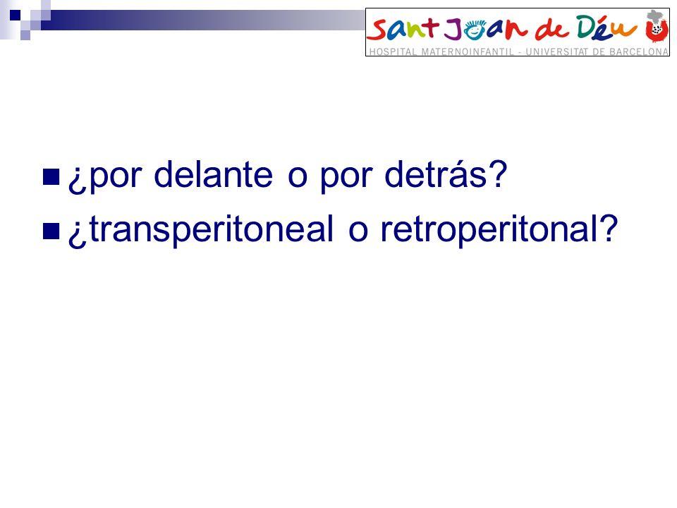 ¿por delante o por detrás? ¿transperitoneal o retroperitonal?
