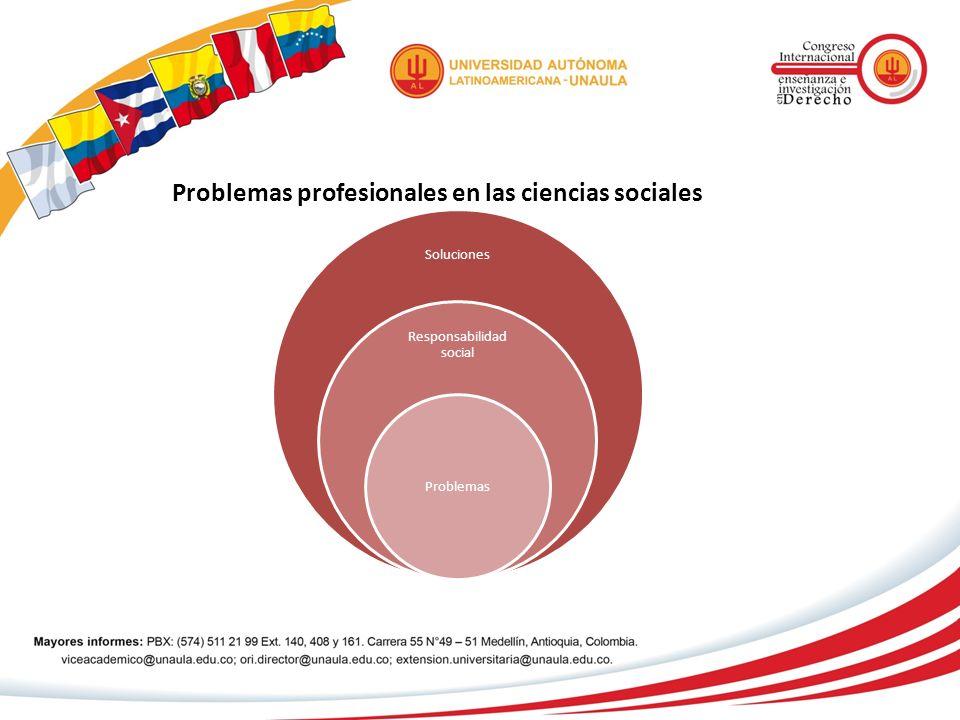 Problemas profesionales en las ciencias sociales Soluciones Responsabilidad social Problemas