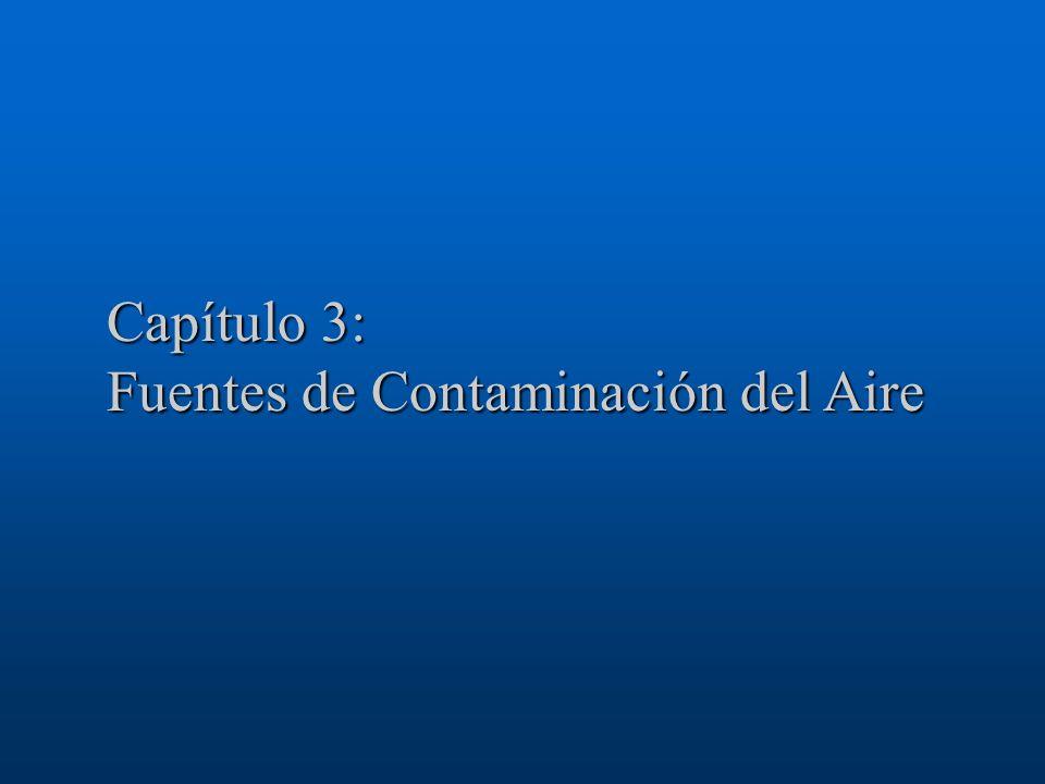 Capítulo 3: Fuentes de Contaminación del Aire