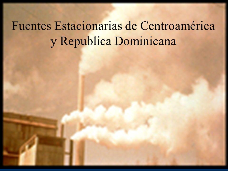 Fuentes Estacionarias de Centroamérica y Republica Dominicana