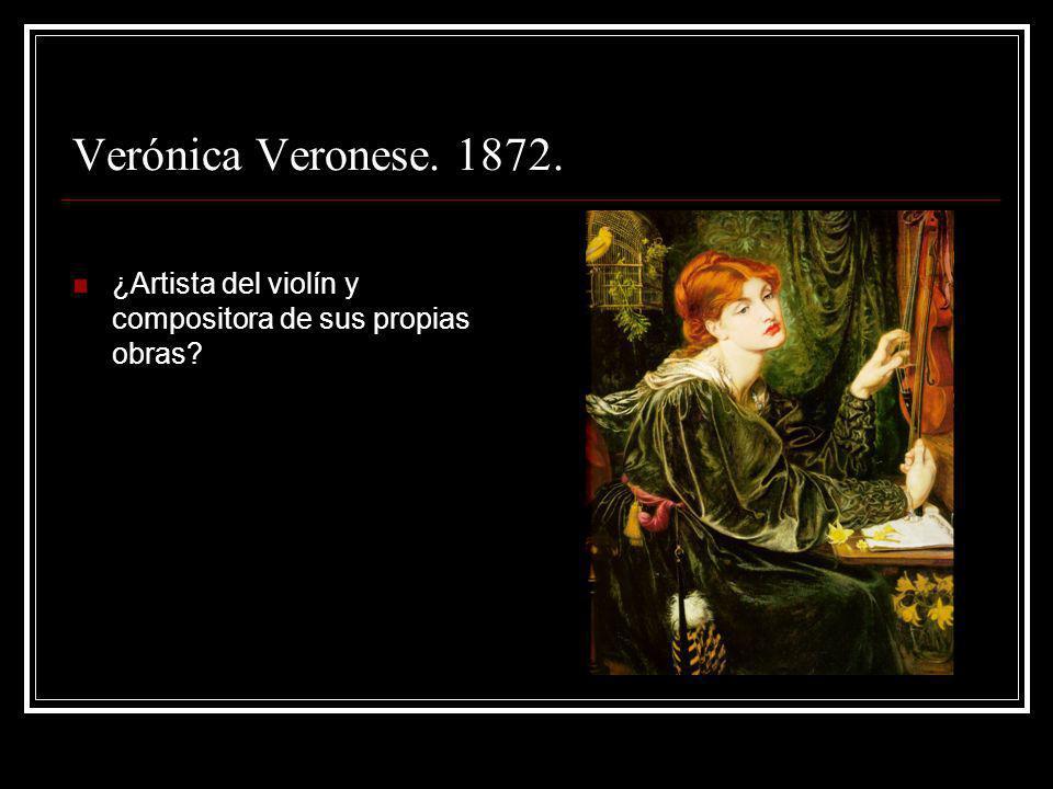 Verónica Veronese. 1872. ¿Artista del violín y compositora de sus propias obras?