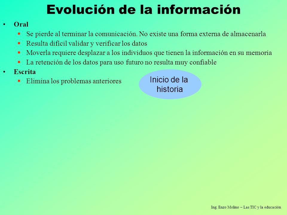 Ing.Enzo Molino – Las TIC y la educación Algunas primeras máquinas K.